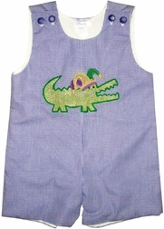 Custom  Mardi Gras Alligator Boy's Shirt or Outfit