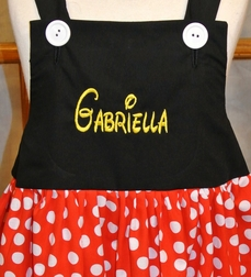 Girl's Minnie Mouse Dress, Matches Boy's Mickey Mouse Suit Outfit