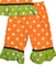 Minnie Mouse Pumpkin Dress or Outfit in Orange or Brown with White Dots