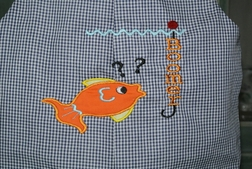 Custom Monogrammed Boy's John John with Puzzled Fish