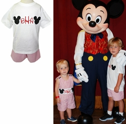 Custom Monogrammed Mickey Mouse Disney Boy's John John or Outfit