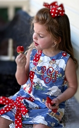 Custom Girl's Dress or Outfit in Waterplay Beach Fabric