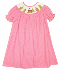 Delaney Smocked Gingerbread House Dress