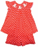 Delaney Smocked Hello Kitty Top and Shorts Set