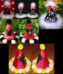 Disney Birthday Hat, Mickey Mouse Minnie Mouse Birthday Hat.
