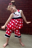 Children's Monogrammed and Personalized Minnie Mouse and Mickey Mouse Dresses and Outfits