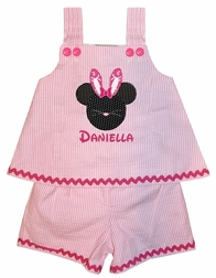 Easter Bunny Minnie Mouse rDess, Shorts Outfit or Capris Outfit