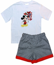 Mickey Mouse Epcot Flag Balloons Custom Disney Outfit.