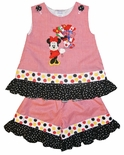 Minnie Mouse Epcot Flag Balloons Custom Disney Dress Outfit.
