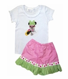Disney Hollywood Studios Minnie Mouse Glam Shirt or Shorts Outfit