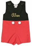 Mickey Mouse Monogrammed Black Red Suit Custom Outfit.