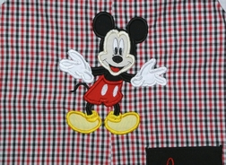 Disney Mickey Mouse Monogrammed Pocket John John