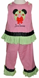 Minnie Mouse Christmas Wreath Dress or Outfit for Girls