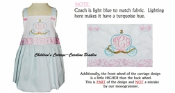 Custom Cinderella Monogrammed Dress, Cinderella Carriage Outfit