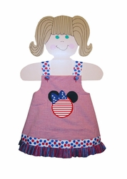 Custom Personalized Minnie Mouse 4th of July Patriotic Flag Dress or Outfit.