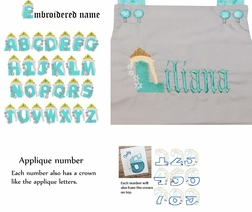 Disney's Frozen Queen Elsa Monogram Initial Dress or Outfit Also Perfect for Birthdays