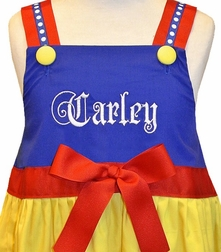 Personalized Snow White Dress or Outfit for Girls.