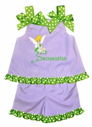 Girl's Tinkerbell Disney Custom Made Dress Or Outfit.