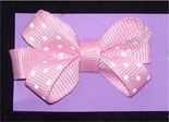 Baby Toddler Hair Bows in Dotted Grosgrain Ribbon