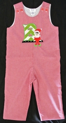 Boy's Christmas Elf Custom Monogrammed Longall.