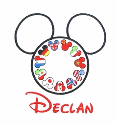EPCOT MICKEY Mouse World Flags Shirt or Outfit with Optional Monogram