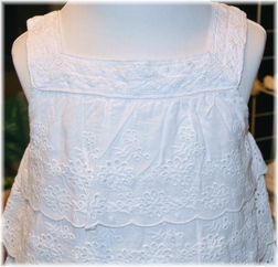 Eyelet Heirloom Ruffle Dress Perfect for Beach Portraits and Special Occasions