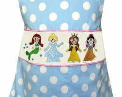 Fairy Tale Princesses Dress or Outfit in Red Gingham Seersucker