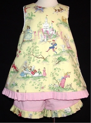 Custom Fairy Tale Storybook Toile Sash Tie Outfit