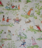 Fairy Tale Toile Storybook Fabric.