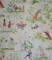 Fairy Tales Toile, White <br>with Red Accents