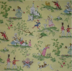 Fairy Tales Toile, Yellow