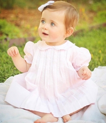 Feltman Brothers Baby Girl's Pink Pleated Dress.