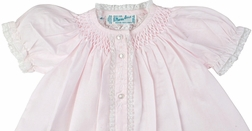 Feltman Brothers Baby Girl's Smocked Honeycomb Day Gown in Pink