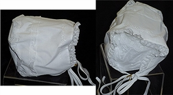 Feltman Brothers Bonnet in White with Embroidery