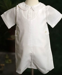 Feltman Brothers All White Button Tab John John and Shirt