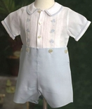 Feltman Brothers Boy's Cars Button On Romper.