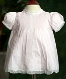 Feltman Brothers Dress in Pink with Tiny Pintucks and Floria Embroidery
