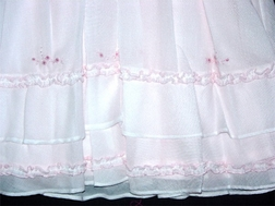 Feltman Brothers Dress Baby Girl's Pink With Rose Bullions Ruffles