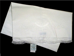 Feltman Brothers Blanket in White Batiste for Baby Girls and Boys