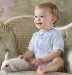 Feltman Brothers Baby Boy's Embroidered Romper Bubble.