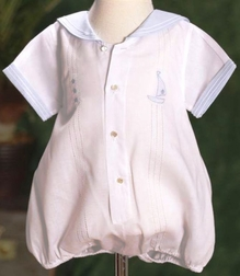 Feltman Brothers Baby Boy's Sailor Romper Bubble.