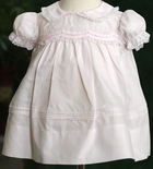 Feltman Brothers Baby Girl's Pink Peter Pan Collar Dress.