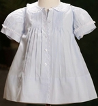 Feltman Brothers Baby Girl's Scallop Blue Embroidered Dress.