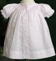 Feltman Brothers Smocked Pink Gown for Baby Girls
