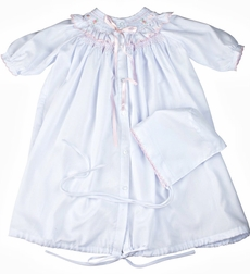 Feltman Brothers Smocked Ribbon Take Me Home Gown & Hat Set