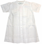 Feltman Brothers White with Pink Embroidery Day Gown Perfect for Bringing Baby Home