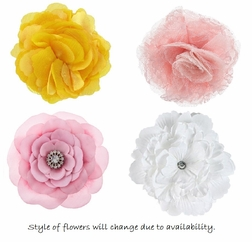 Silk and Fabric Flowers For Infant and Girl Headbands and Caps