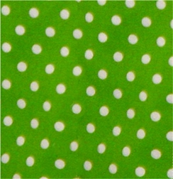 Froggy Pique Coordinating<br>                 Green Dots