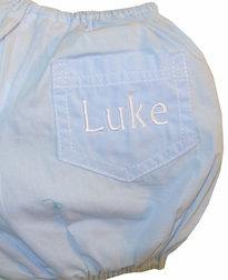 Frumpy Rumps Monogrammable Light Blue Diaper Cover for Baby Boys