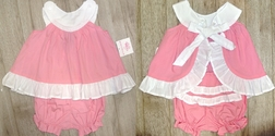 Frumpy Rumps Monogrammable Pink Ruffle Butt Bloomers Outfit